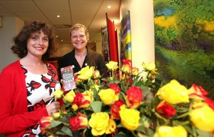 Pic by Adrian Miller 11-10-11 Duke of Richmond Hotel Celebration of Guernsey's 5th anniversary as a Fairtrade Island. L>R Sophi Tranchell MBE MD of Divine Chocolate Ltd and Nicky Terry chairperson Fairtrade Guernsey steering group REF: IMG_5712.JPG